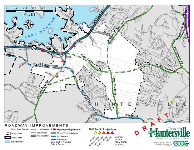 Northwest Huntersville Project Map
