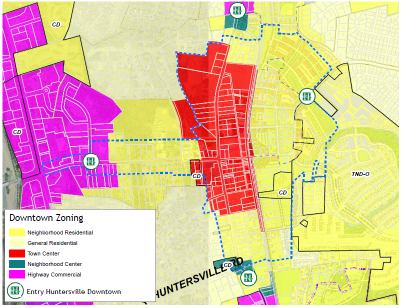 Map DT-3 Downtown Zoning