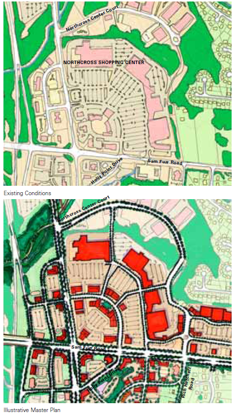 Figure CD-3  Northcross Shopping Center with Streets - Existing Conditions