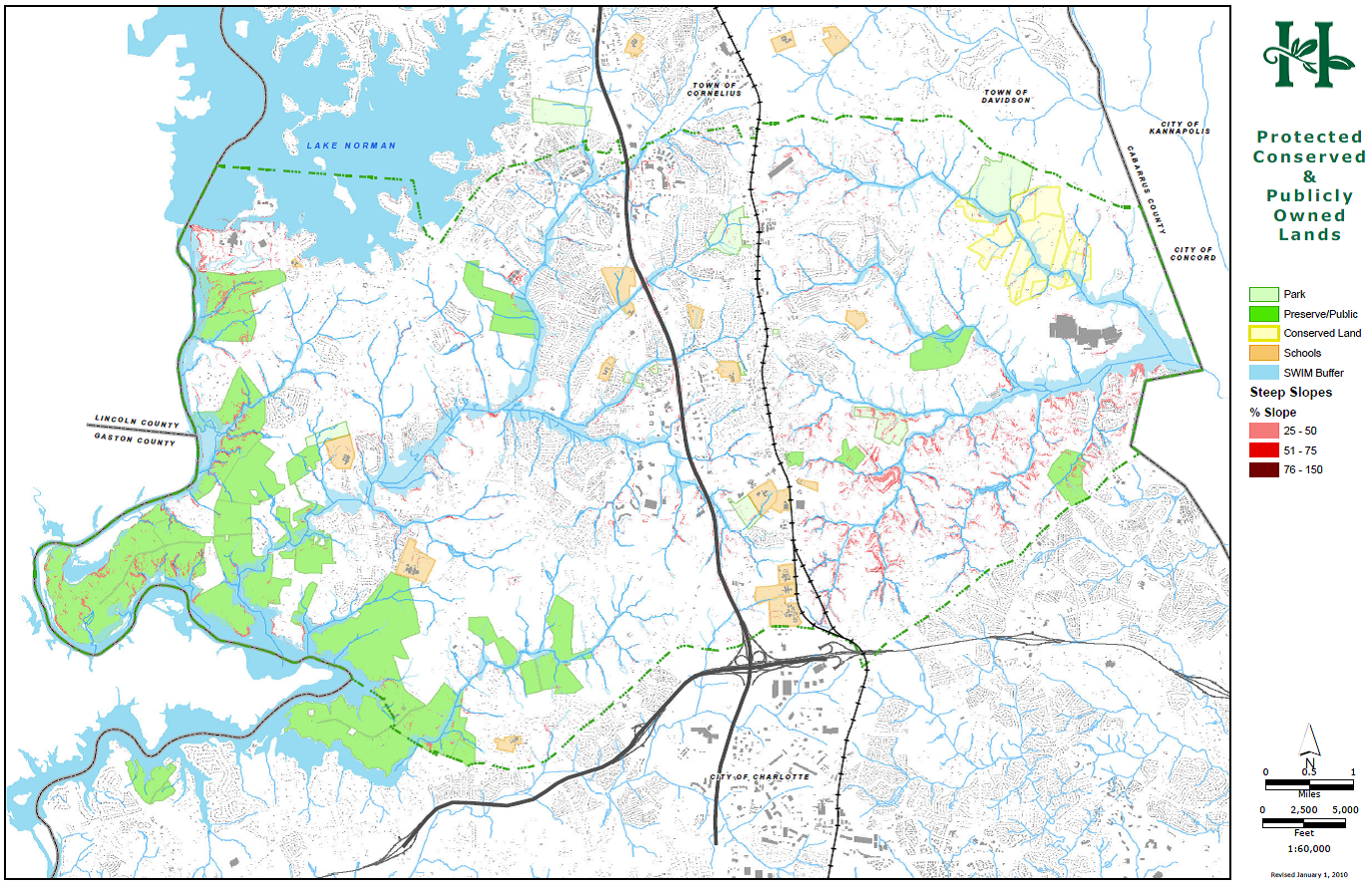 Map E-1 Protected Conserved and Publicly Owned Lands