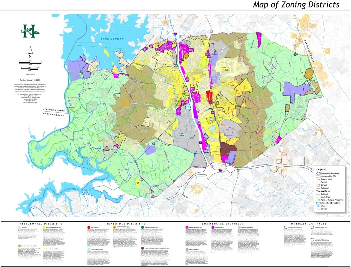 Map H-3 2011 Huntersville Zoning Map