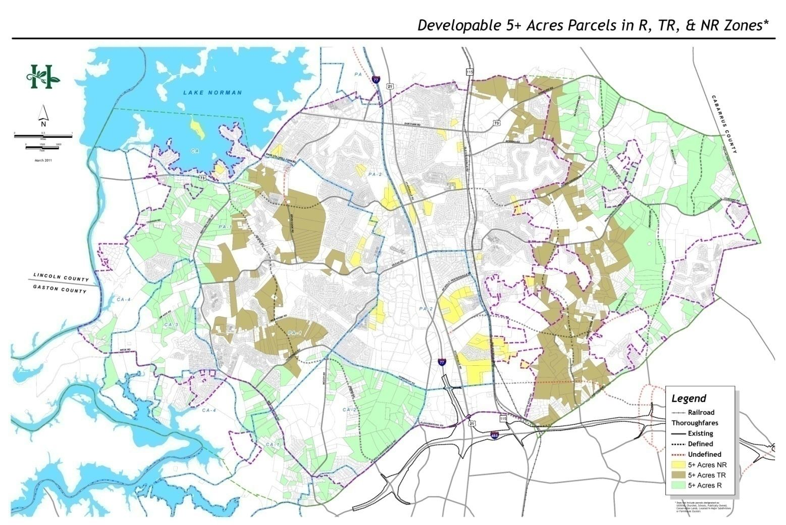 Map H-4 Land Available for Residential Development