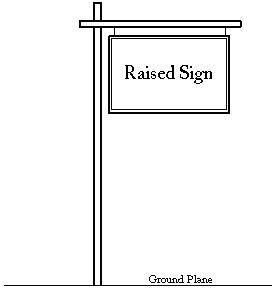 Raised Sign