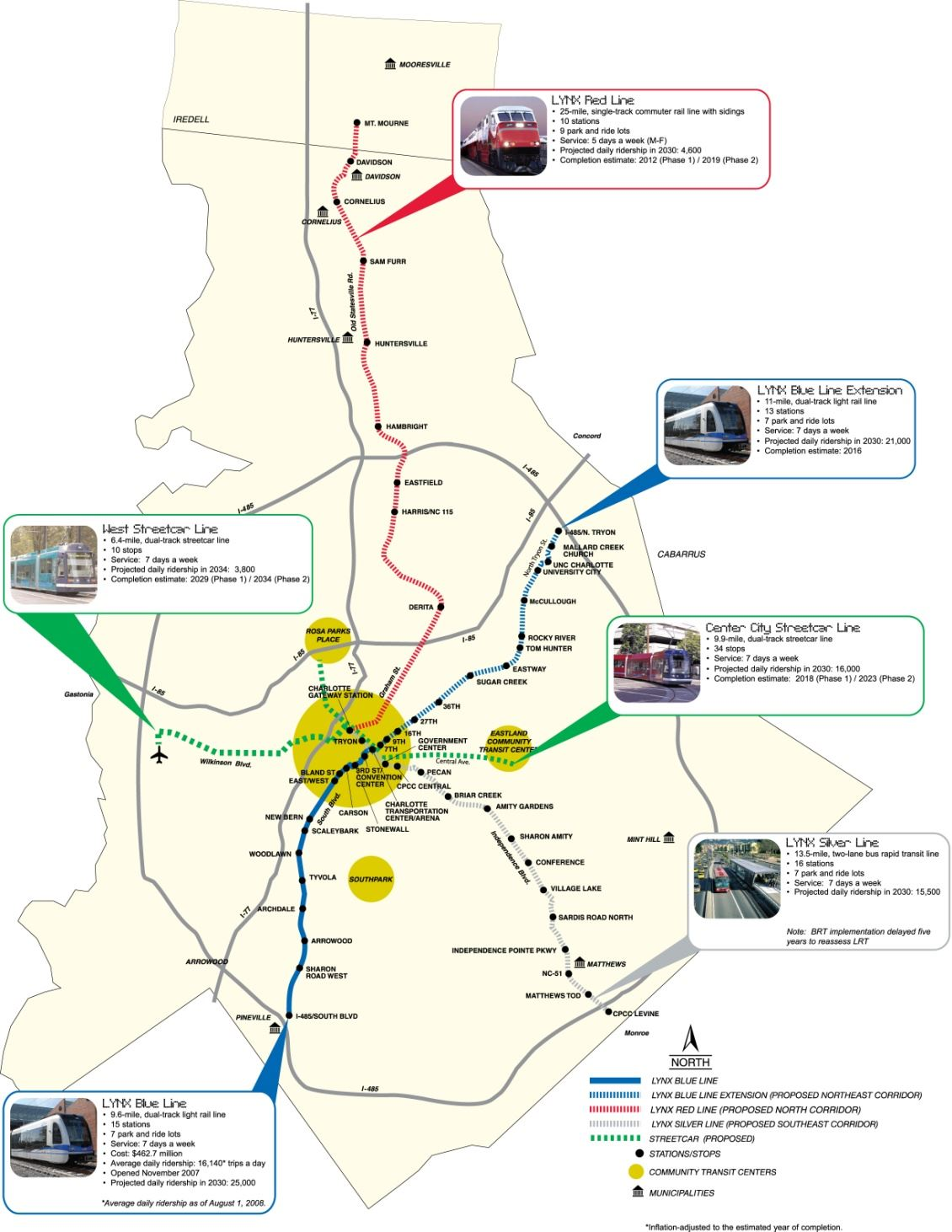 Map T-7 2030 Transit Corridor System Plan, adopted by the MTC in 2007